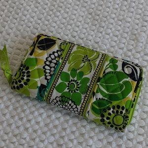 "Vera Bradley ""Limes Up"" zip around wallet NWOT"